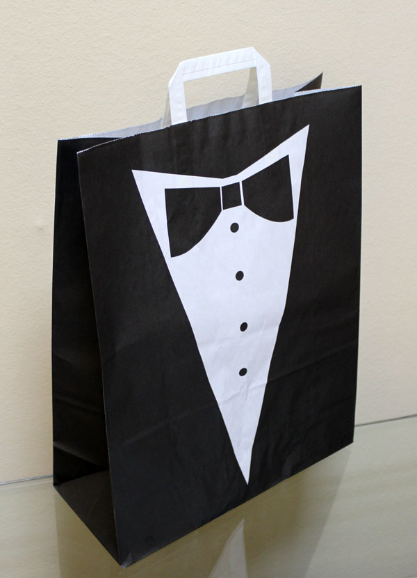 Праздничный пакет из бумаги